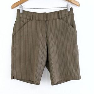 NIKE Fit Dry Striped Brown Golf Shorts Size 2
